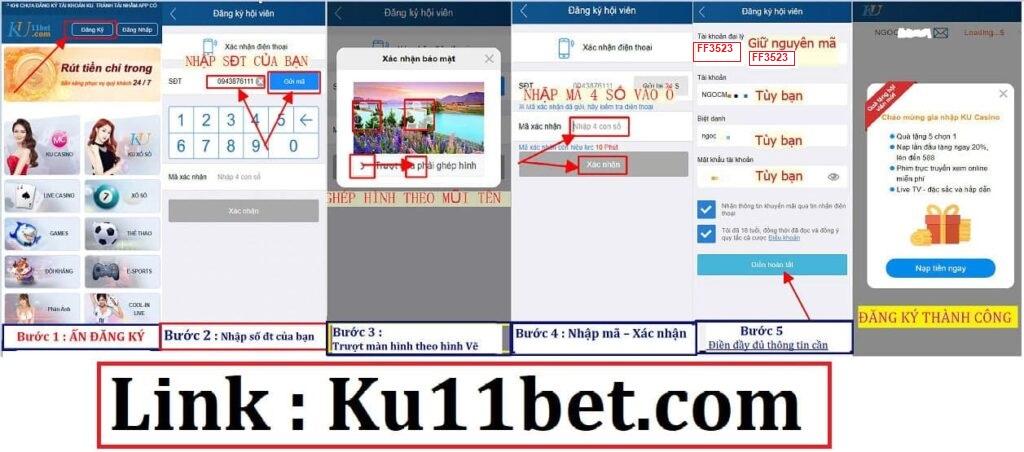 Đăng ký KU11 Casino - Tạo tài khoản KUBET11